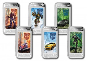 Transformers: Age of Extinction - Silver Coin with Lenticular Optimus Prime, Lockdown, Bumblebee