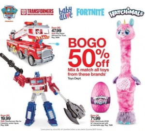 BOGO 50% off plus $10 off WFC Voyagers at Target this Week including New Toy Fair Reveals