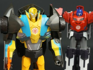 New Galleries: Robots In Disguise Hyperchange Sideswipe and Clash of the Transformers Hyperchange Bumblebee and Optimus Prime