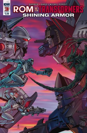 Review of IDW Rom Vs. Transformers: Shining Armor #3
