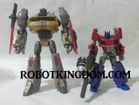 Transformers News: In-Hand Images: Transformers Generations: Fall of Cybertron Voyagers Grimlock and Blaster with Steeljaw