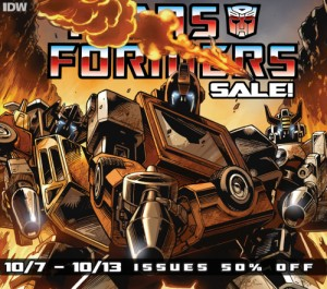 Transformers News: IDW Transformers Phase One - ComiXology 50% Sale on Single Issues