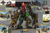 Transformers News: TF ROTF Devastator Concept Art &  Overload Robot Mode!