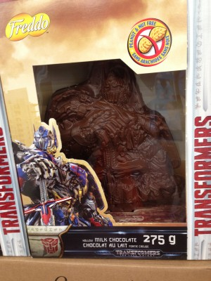 Transformers News: Transformers: The Last Knight Optimus Prime Chocolate On Shelves for Easter