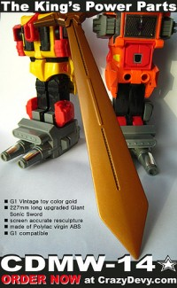 Transformers News: CrazyDevy CDMW-14 Predaking Giant Sonic Sword