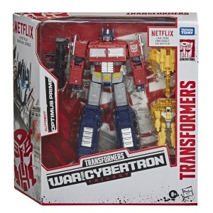 In-Box and In-Hand Images of Netflix War for Cybertron Trilogy Voyager Optimus Prime and Soundwave