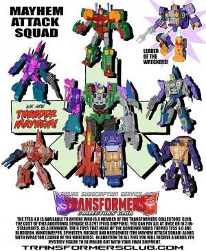 Transformers News: TFCC Subscription Service 4.0 - Mayhem Attack Squad THUNDER MAYHEM Combiner Revealed