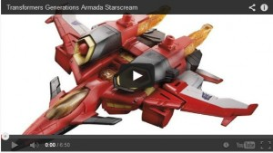 Transformers News: Video Review: Transformers Generations Armada Starscream
