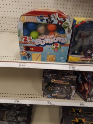 Transformers BotBots Series 4 Gumball and Claw Machine Boxes found at Target