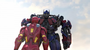 Transformers News: Fantasy Battle Video - Super Power Beatdown Iron Man vs Optimus Prime