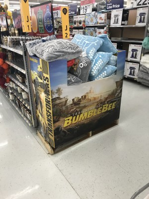 Transformers Bumblebee Movie Pillow Stack Found At Walmart in Centereach, NY