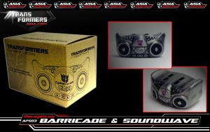 Transformers News: APS-03 Decepticon Soundwave and Barricade Mini Boombox Promotion at  Select Asia Retailers