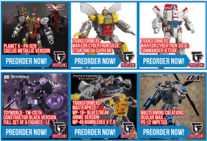 Transformers News: TFSource News - MMC Inventa, TW-07P LE Constructor & TW-07F Gunner, MP-20+ Wheeljack and More!
