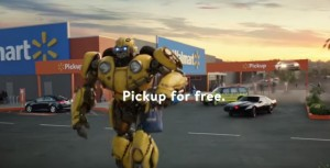 Transformers News: Walmart uses Bumblebee and other famous cars to promote Grocery Pickup