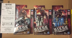 Target DPCI codes for Transformers WFC Siege and Wave 1 Battle Masters found
