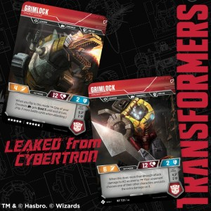 Transformers News: Grimlock and more revealed for the Official Transformers Trading Card Game