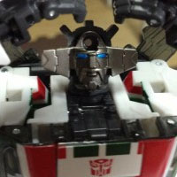 Transformers News: Behind the mask: Masterpiece MP-20 Wheeljack has a face!