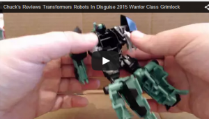 Transformers News: Robots In Disguise 2015 Warrior Class Grimlock Video Review