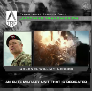 New Bio for TRF Colonel William Lennox for Transformers: The Last Knight