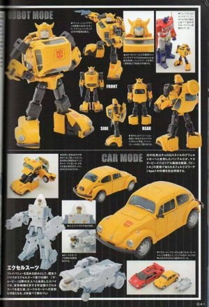 Transformers News: Clearer Color Images of Takara Tomy Masterpiece MP-21 Bumblebee and Spike