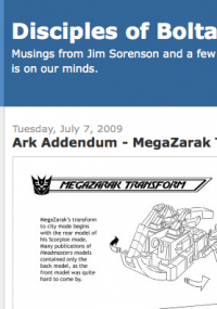 Transformers News: Ark Addendum:  'MegaZarak Transforms' (Base Mode)