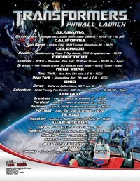 Transformers News: Official Press Release: World's Only Maker of Arcade Quality Pinball Announces Plans for Launch Parties and Pinball Expo 2011