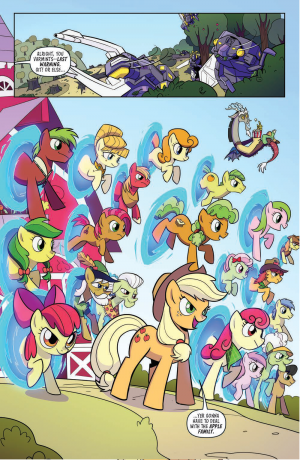 Transformers / My Little Pony Issue 4 Homages the Avengers Portal Sequence