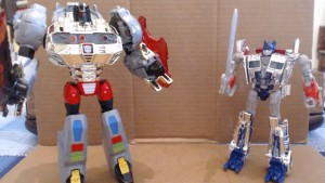Transformers News: Video Review - Transformers: Age of Extinction Target Exlcusive Silver Knight Optimus Prime and Grimlock