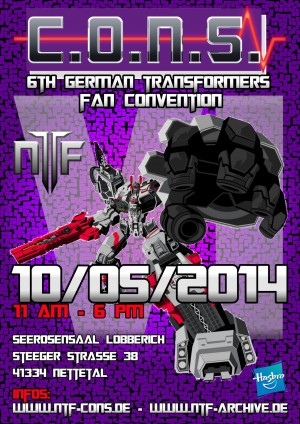 Transformers News: C.O.N.S. VI - October 2014, Nettetal, Germany, Featuring Andrew Griffith, John-Paul Bove