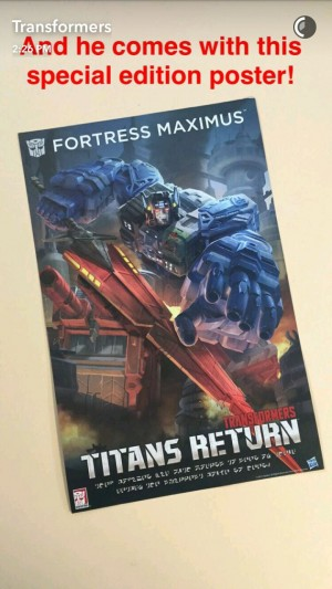 Transformers News: Transformers Titans Return SDCC Exclusive Fortress Maximus to Include Poster