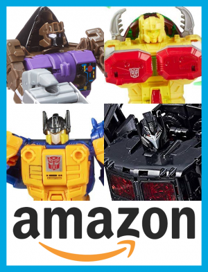 Transformers News: All 4 Amazon.com Prime Wars Trilogy Exclusives Currently Available as well as Titan Class PREDAKING