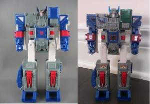 Comparison Images Between Both Kabaya Transformers DX Fortress Maximus Releases