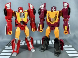 Additional Compairison Images of Takara Tomy Transformers Legends LG-44, LG-45, and LG-46 with Hasbro Titans Return Gnaw, Hot Rod, and Kup
