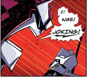 IDW Transformers More than Meets the Eye #22 Deleted Scene - Art by Josh Burcham