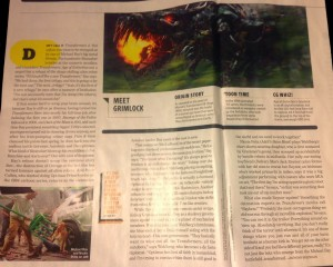 Transformers News: New AoE Grimlock Image Revealed. Bay, Wahlberg and Raynor Comment On The Upcoming Film
