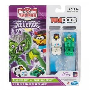 Angry Birds Transformers Deceptihogs Revenge Telepods Jazz and Brawl Two-Pack