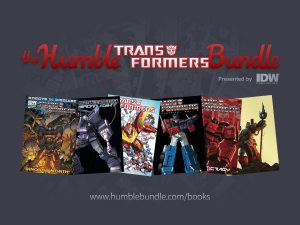 Transformers News: SDCC 2014 Coverage - IDW Publishing Transformers Humble Bundle Press Release