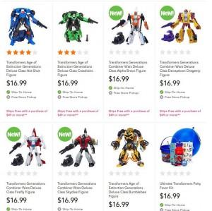 Transformers News: Transformers Generations Combiner Wars Deluxe Figures In Stock at TRU.com