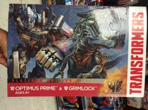 Transformers News: Transformers Age of Extinction Platinum Edition Optimus Prime and Grimlock Set at US Retail
