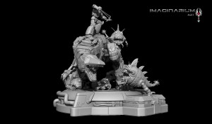 Transformers News: Imaginarium Art Grimlock and Sharkticon Statues Renders