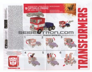 Instruction Sheets for Transformers: Age of Extinction Voyager Grimlock and Evasion Mode Optimus Prime