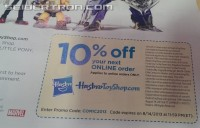 Transformers News: SDCC 2013 Coverage: HasbroToyShop Promo Code