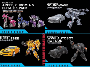 Transformers News: Official Photos of Studio Series Arcee Triplets, WWII Hot Rod, Soundwave and More