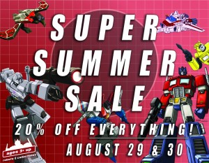 Transformers News: Ages Three and Up Summer Sale This Weekend!