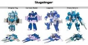 Transformers News: Hasbro / Takara Comparison Charts for Bumblebee, Slugslinger, Perceptor and Octane