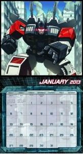 Transformers News: 2013 Transformers Wall Calendar Preview and Pre-Order