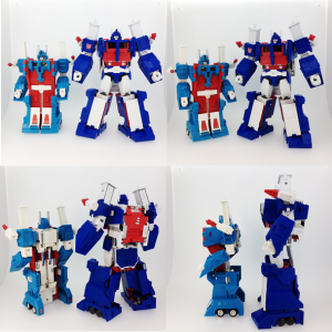 Transformers News: Transformers Masterpiece Ultra Magnus Comparison Images with G1 Ultra Magnus