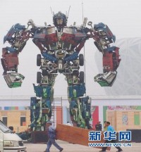 2 new Giant Transformers statues in China!
