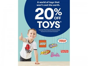 20% Sale on Toys at Australian Retail Chain Big W, including Transformers