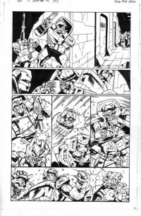Transformers News: Auction Alert!  Original Guido Guidi Last Stand of the Wreckers Artwork